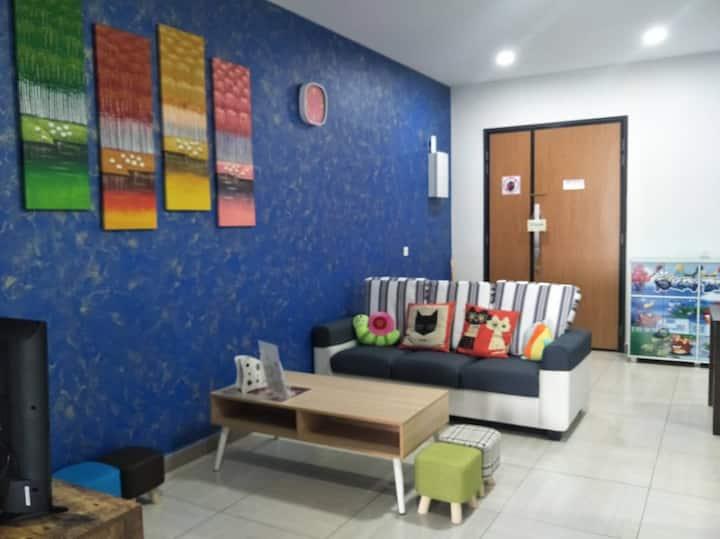 Octagon Ipoh Homestay - 2 Bedrooms unit - 8-19-3