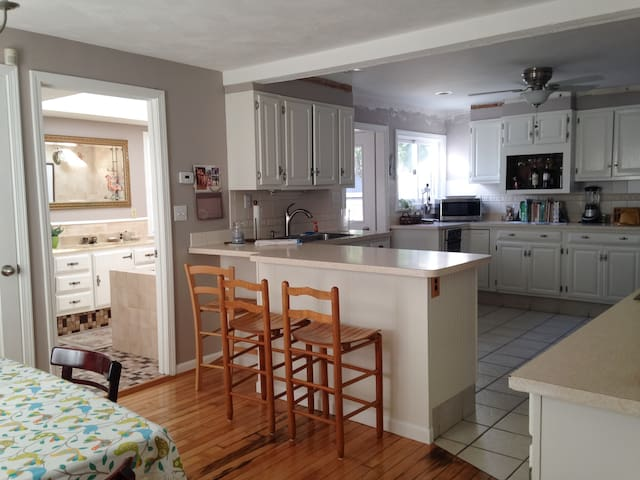 Private, spacious 4BR home near train to Boston