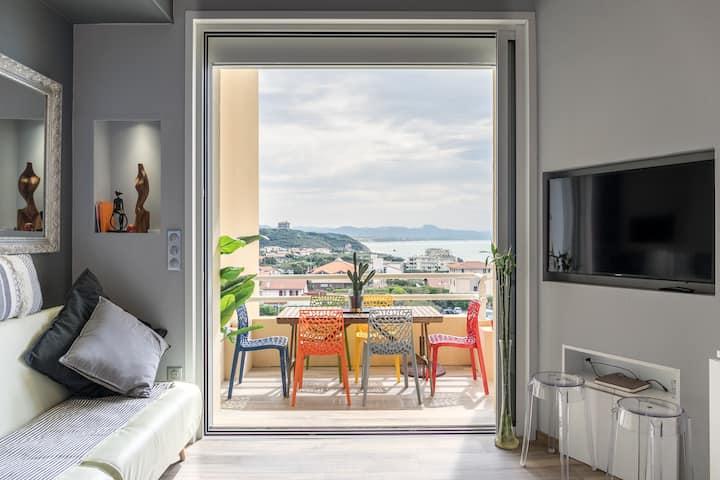 Appartement tout confort avec vue exceptionnelle