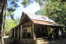 we also rent the original cabin built by the folks who homesteaded the land