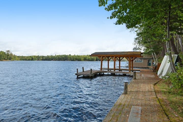 New listing! Dog-friendly lake home w/private dock/campfire pit/sauna/free WiFi!