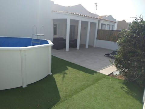 beautiful townhouse in Menorca with private plot