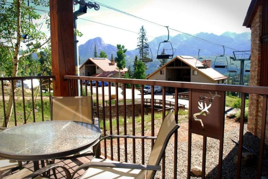 Enjoy the mountain views with your morning coffee