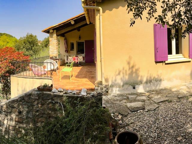 Villa zen pour vacances en Cevennes