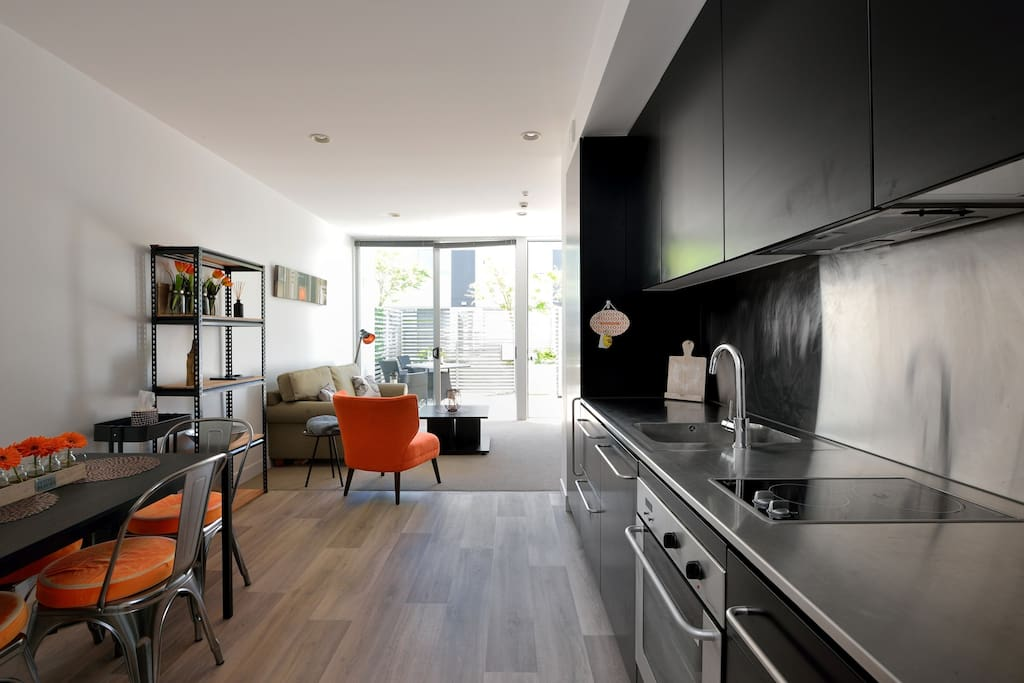 Light and airy open-plan living