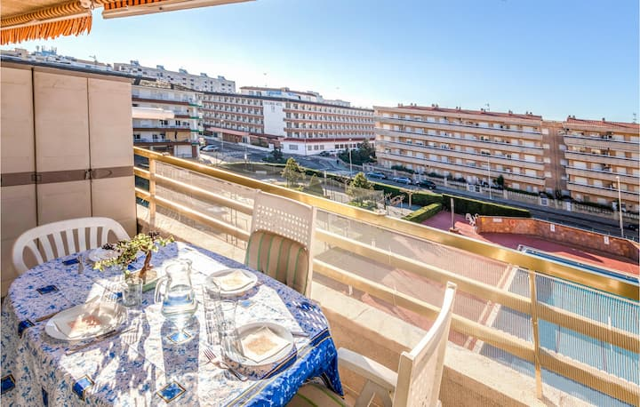 Amazing home in Blanes with 1 Bedrooms