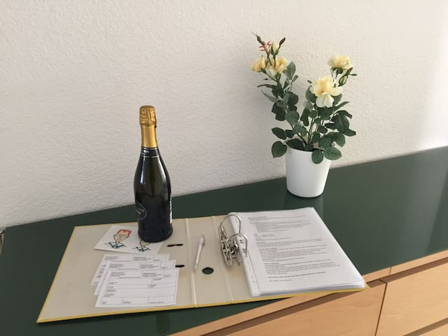 Quiet, large apt. for up to 5 + 1 next to Zurich - Oberwil-Lieli - Apartamento com serviços incluídos