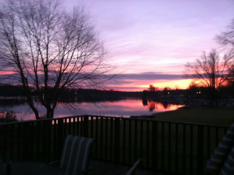 Sunrise on Garver Lake