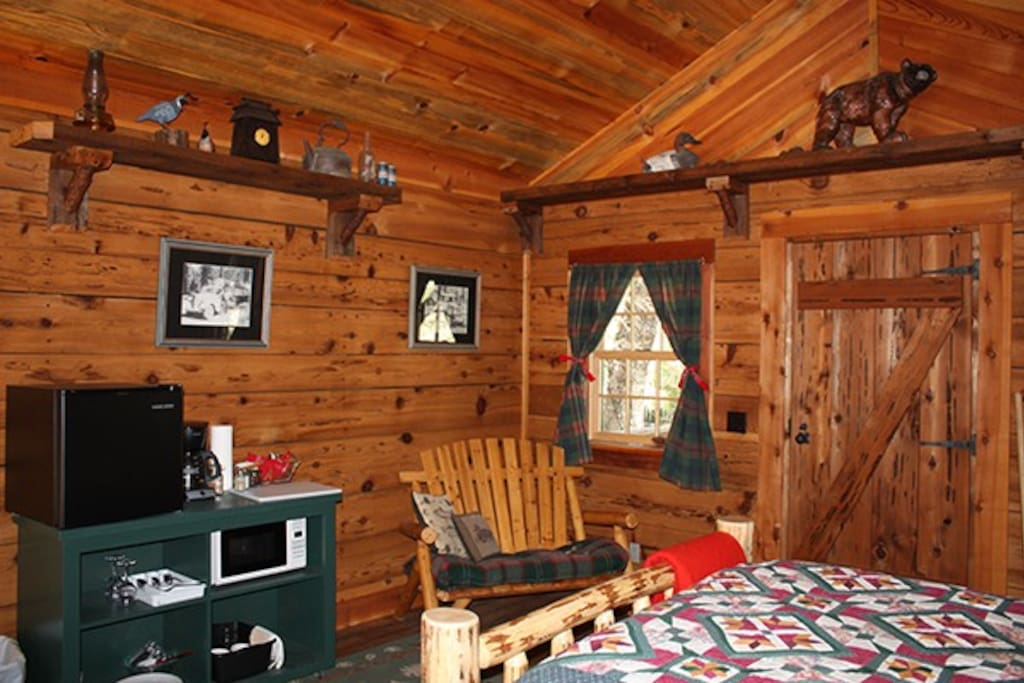 Handcrafted Queen Log Bed, locally made