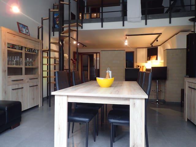 Nice bedroom in a spacious modern house
