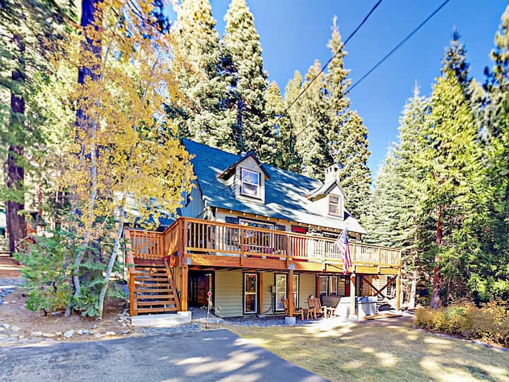Old Tahoe Home with Private Hot Tub & Guest Suite