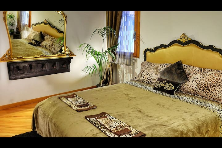 Gondoliers quarters.  With an extra blanket on top. (Note: Bed updated in 2018)