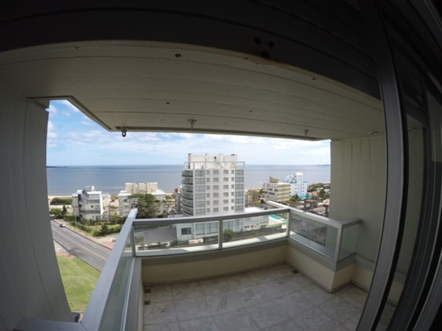 Vista desde el balcón terraza
