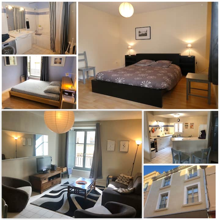 Charming 2 bedroom apartment - Wifi - Calm