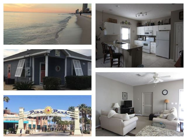 **Bright, spacious newer home, walk to the beach**