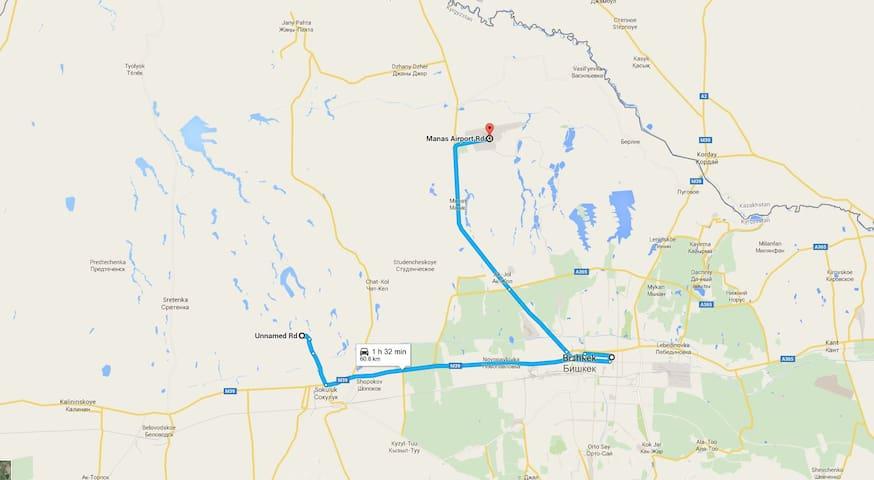 camping 25km from Bishkek