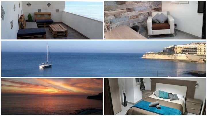 Sea-view, ground floor apartment at Qbajjar Gozo