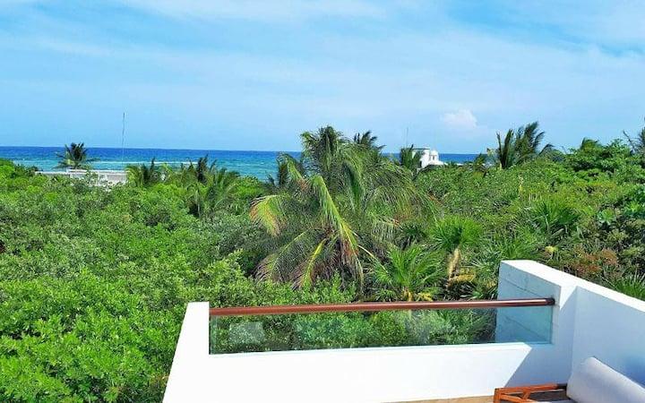 Stunning Caribbean Sea View Villa w/ Rooftop
