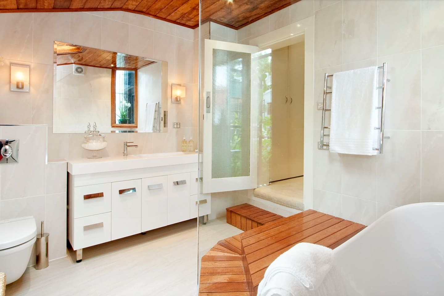 Master bath - luxurious bathtub, room for 2. Rainfall shower.