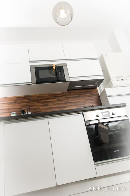Microwave, electric oven and dishwasher