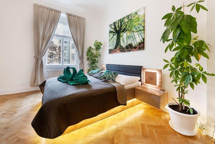 The forest Apartment - Center, 2bth, Balcony, Park