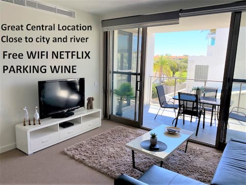 PERFECT CLOSE TO CITY SHOPS WIFI NETFLIX PARK WINE
