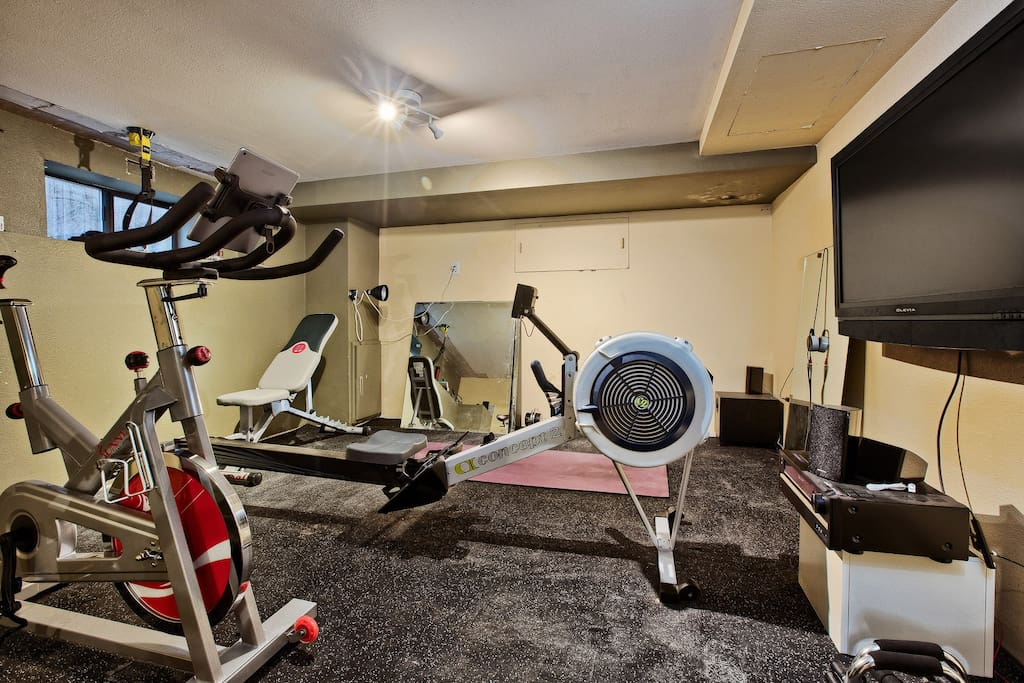 Guests can access home gym