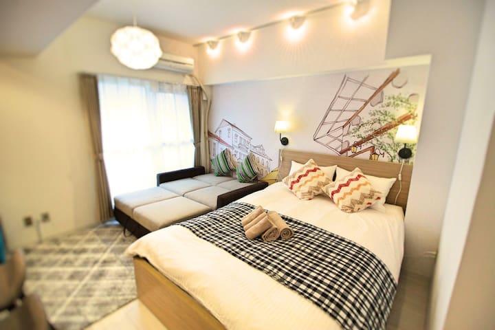 NEAR SHINSAIBASHI6mins FREE WIFI A.A.O.H - Chūō-ku, Ōsaka-shi - Apartamento