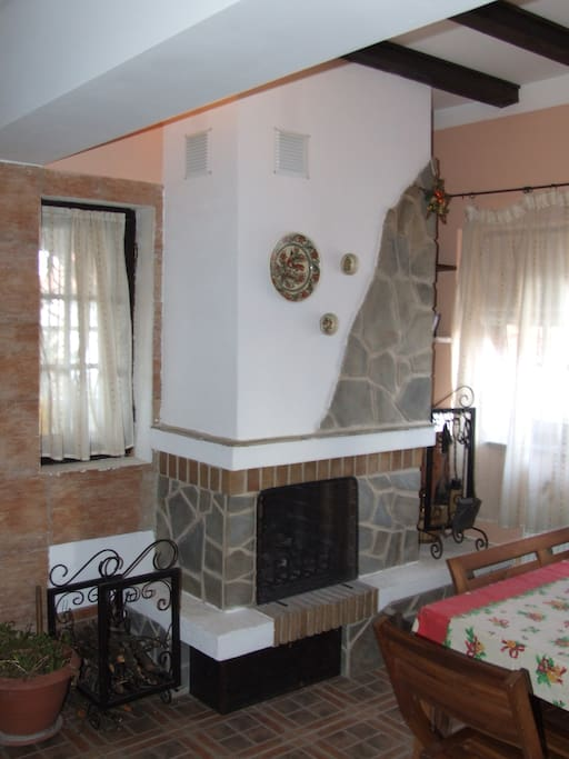 Fireplace and dinning