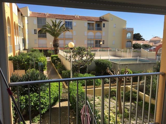 T2 à louer résidence avec piscine Narbonne plage - Narbonne - Leilighet