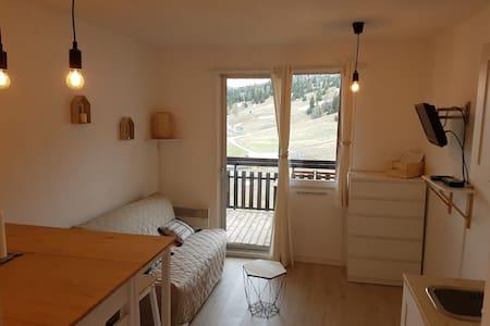 Studio 4 couchages avec balcon exposé plein sud