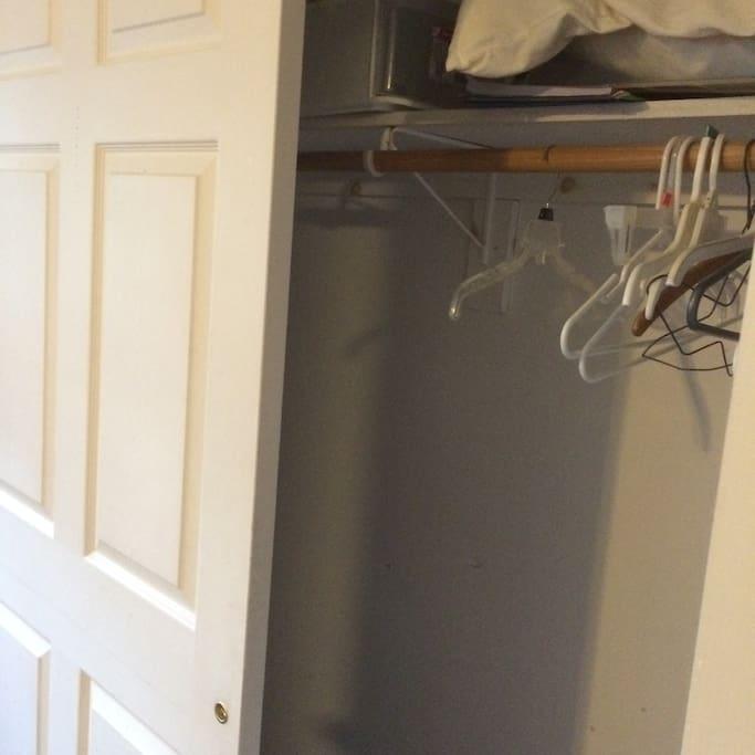 Big closet in bedroom.