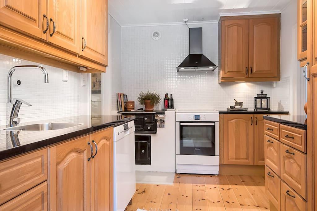 Kitchen with coal stove