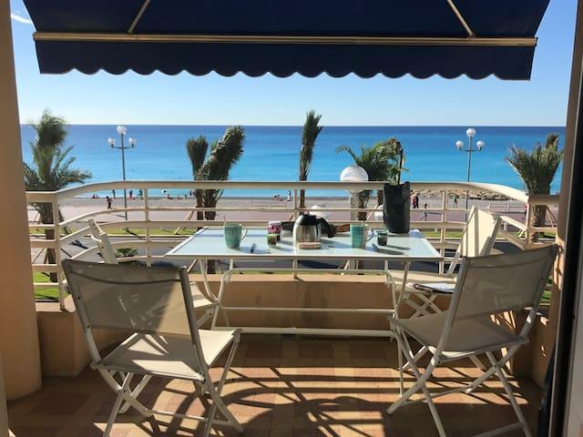 Appartement 4-6 pers vue Mer Promenade des Anglais