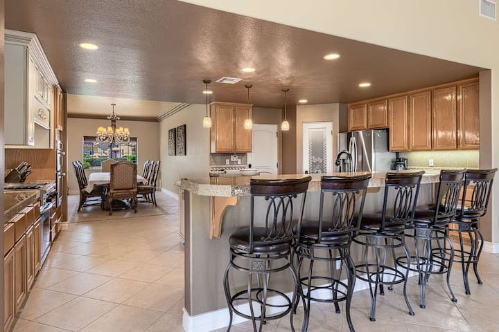 Gourmet Kitchen with attached Formal Dining Room...Breakfast Bar to watch the Chef!