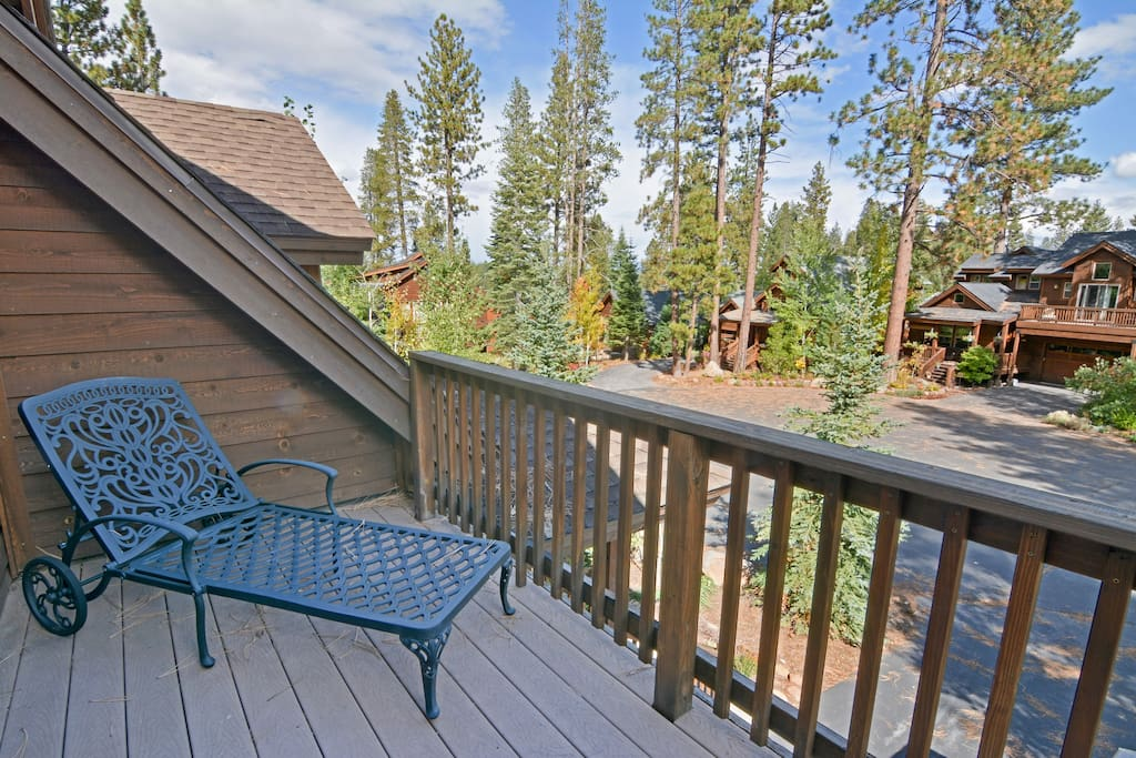 Take in the outdoors from the patio off the master bedroom.