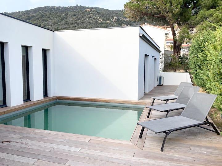 Villa avec piscine à Ajaccio, rt  des Sanguinaires