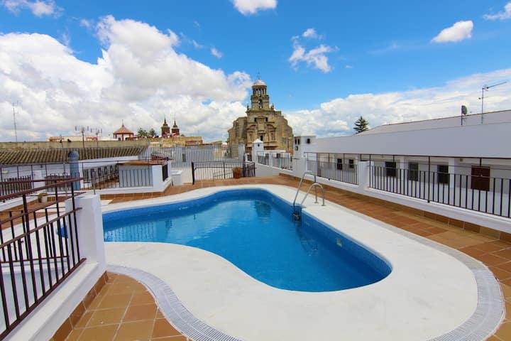 Dúplex con piscina casco histórico de Jerez