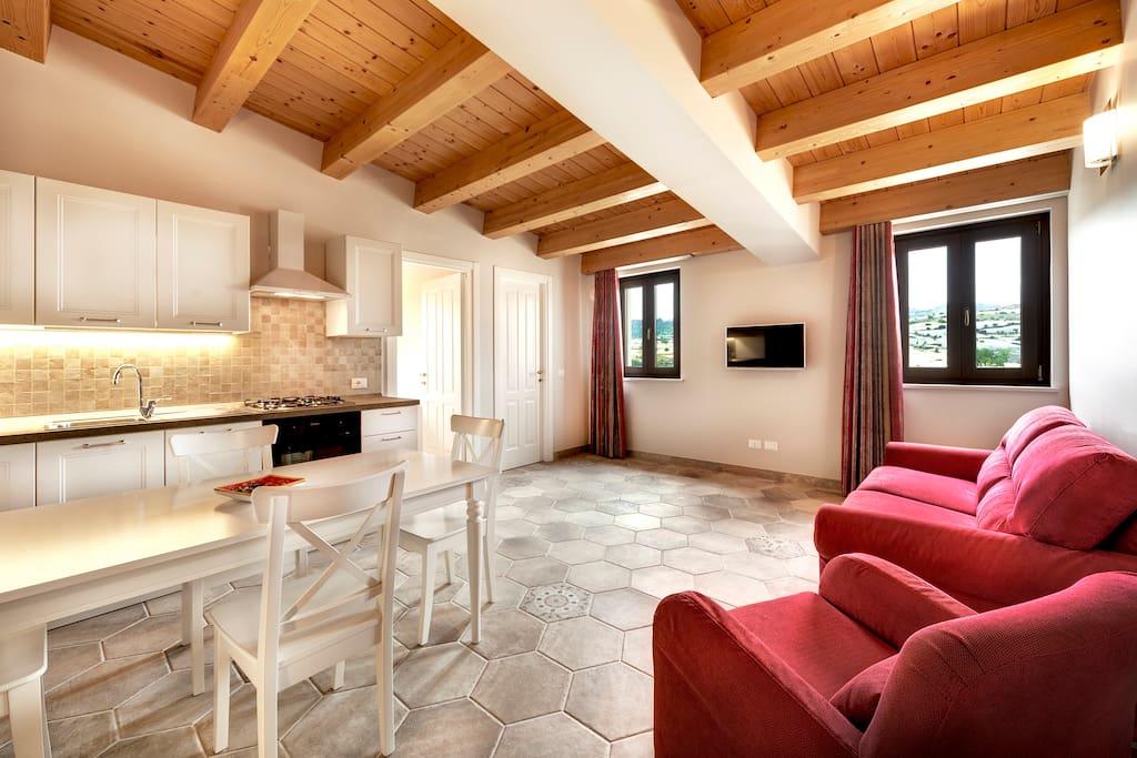 Cucina-soggiorno Appartamento Barocco
