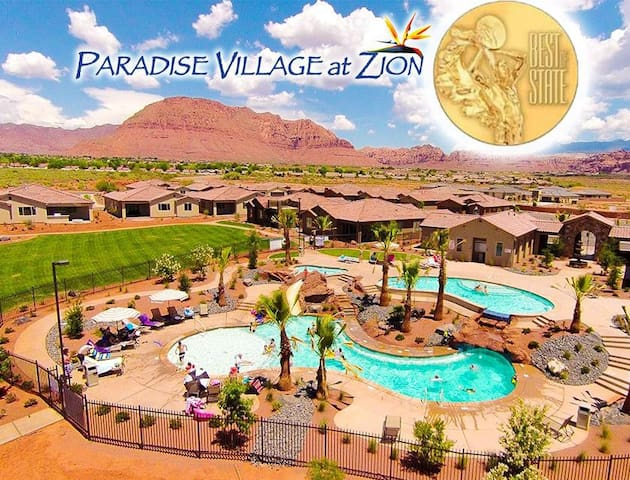 Zions Paradise Village Villa with a View!