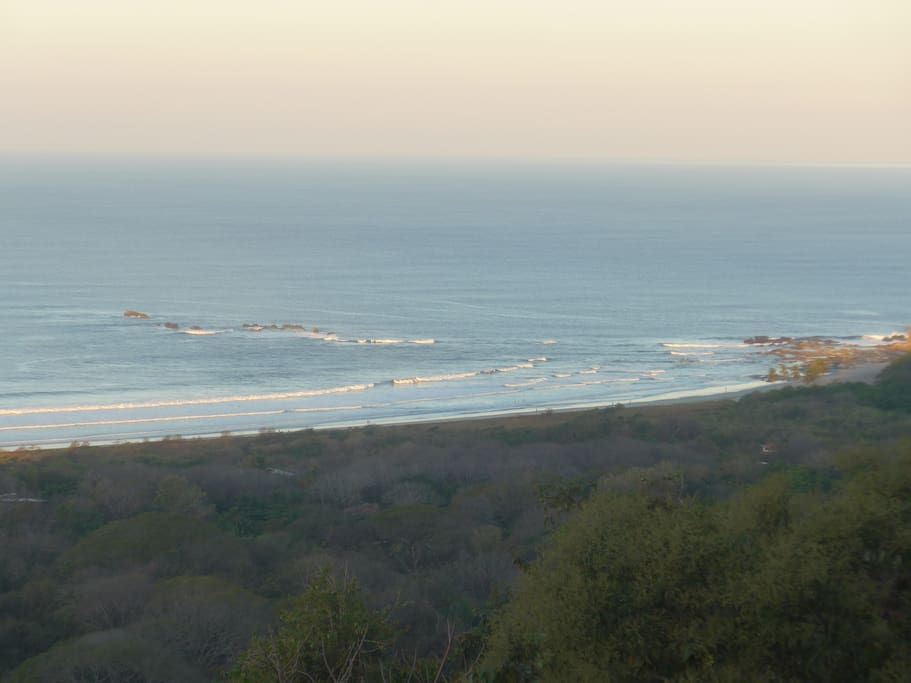 Check out the surf before you leave in the morning. View from the outdoor living area looking north towards Pelada