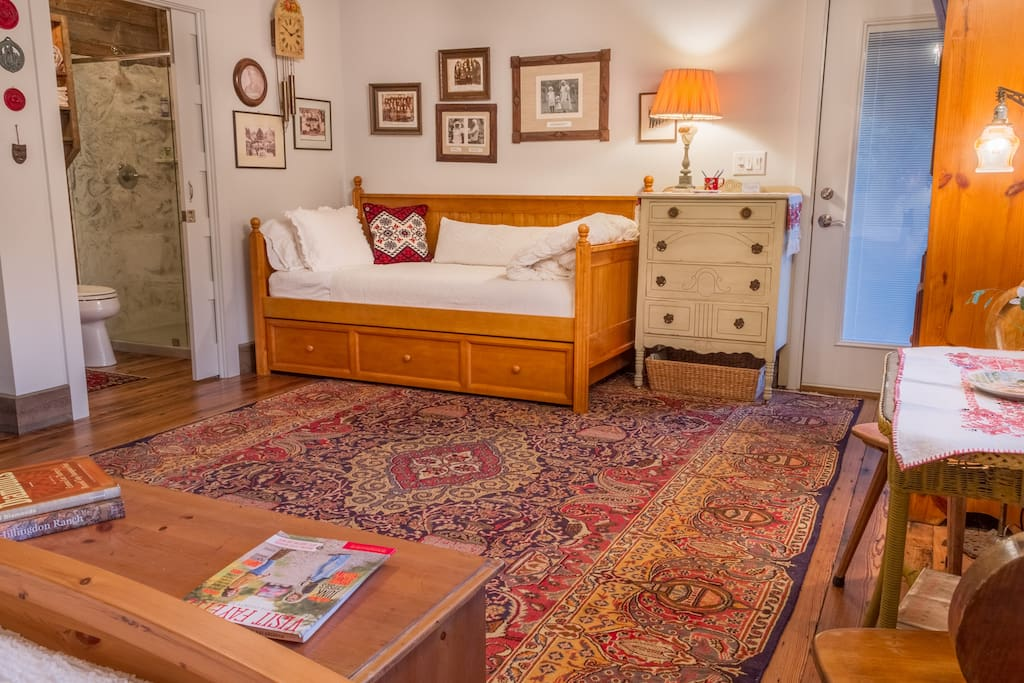 The trundle bed in the Bavarian suite