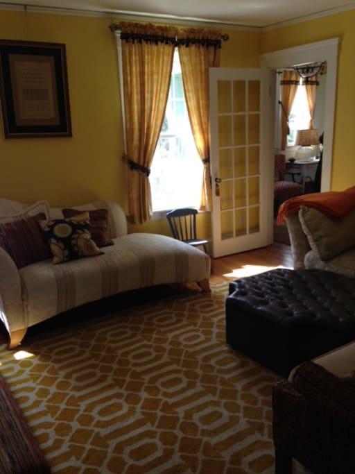 Sunny yellow living room