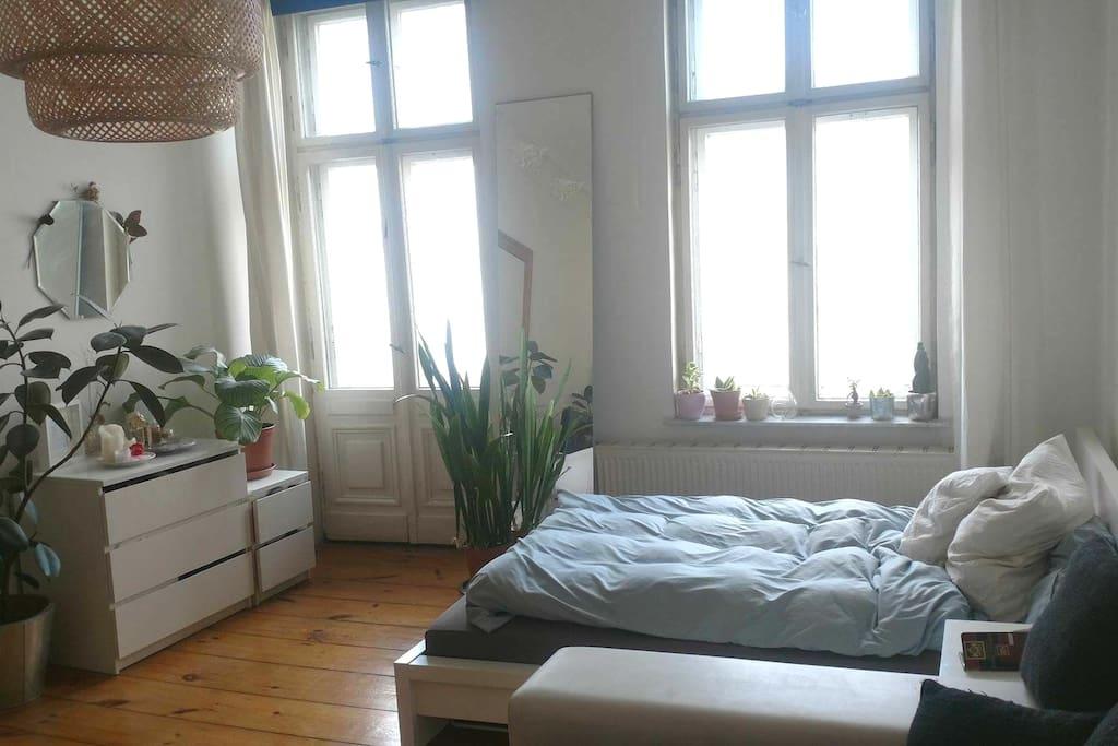 Room with mini balcony