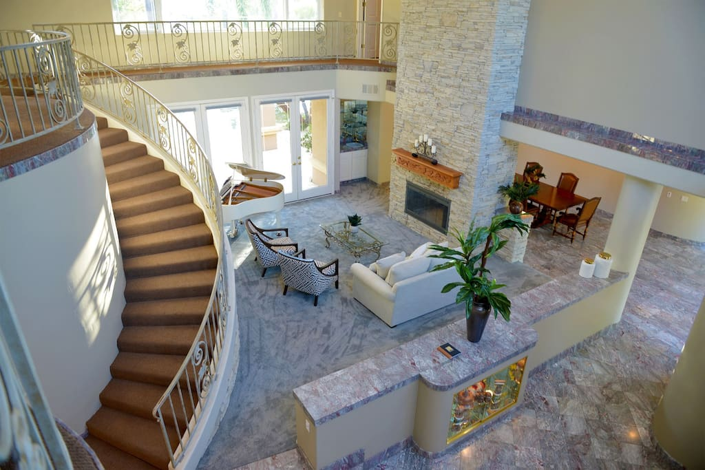 Entry Family Room with Piano