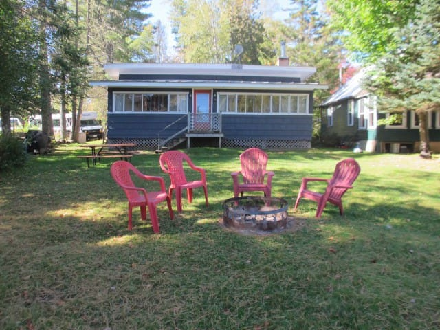 Small older cottage close to the Village of Oquossoc and right on Rangeley Lake.