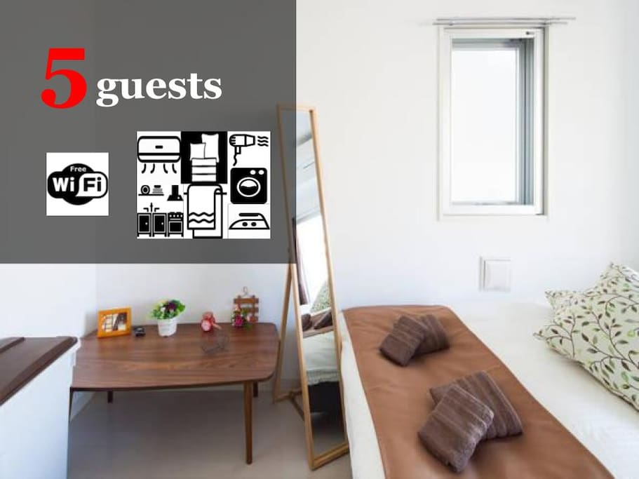 Up to 5 guests