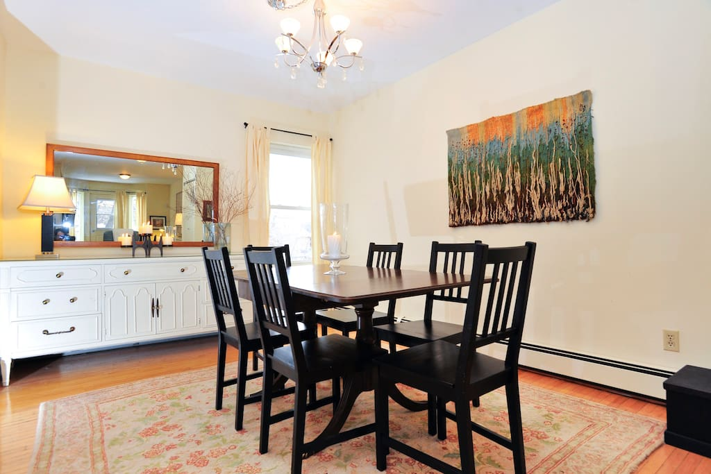 Spacious dining area allows for entertaining family and friends.
