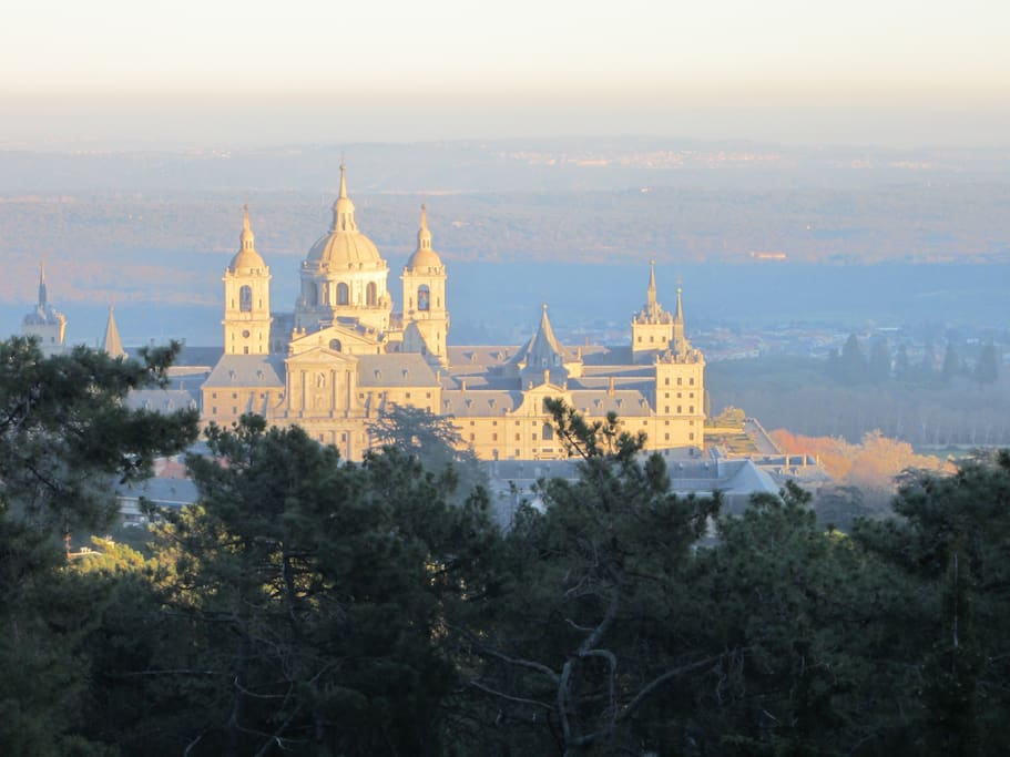 Incredible views of the Monastery of San Lorenzo de El Escorial and Madrid from home!