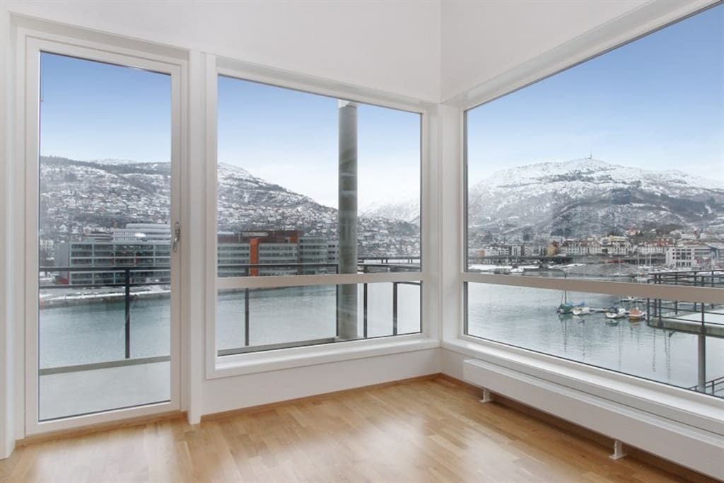 The most spectacular view of Bergen and the sea and the mountains that frames in the gateway to the fiords.